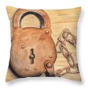 Railroad Lock Throw Pillow
