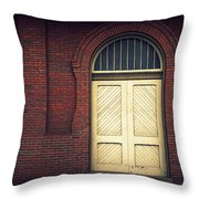 Railroad Museum Door Throw Pillow