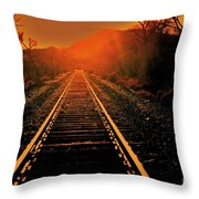 Railroad  Surreal Perspective IIi Throw Pillow