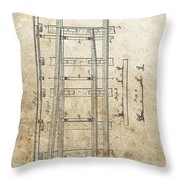 Railroad Switch Patent Throw Pillow