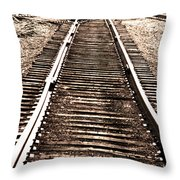 Railroad Tracks  In 1939 Throw Pillow