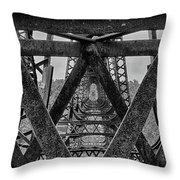 Railroad Trestle Panoramic 2 Throw Pillow
