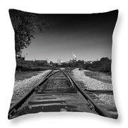 Rails-1 Throw Pillow by Joseph Amaral