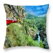 Rails Above The River Throw Pillow