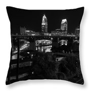 Rails Roads And Rust In Monochrome Throw Pillow