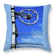 Railway Catenary Throw Pillow