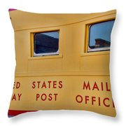 Railway Post Office Throw Pillow
