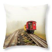 Railway To The Summit Throw Pillow