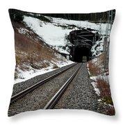 Railway Track Throw Pillow