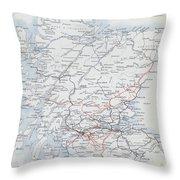 Railways Of Scotland Throw Pillow