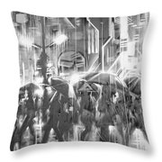 Rain And Wet. Throw Pillow