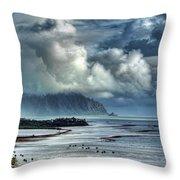 Rain Clearing Kaneohe Bay Throw Pillow