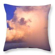 Rain Cloud And Rainbow Throw Pillow
