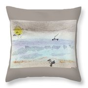 Rain Coming Throw Pillow