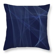 Rain Computer Graphic Line Pattern Throw Pillow