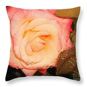 Rain Flower Rose Throw Pillow