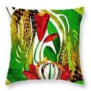 Rain Flowers Throw Pillow by Sarah Loft