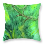 Rain Forest Revisited Throw Pillow