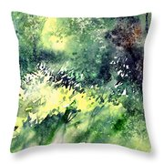 Rain Gloss Throw Pillow