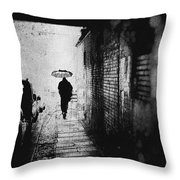 Rain In Berlin Throw Pillow