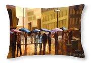 Rain In Manhattan Number Seventeen Throw Pillow