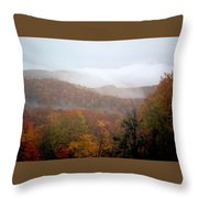 Rain In Smokies Throw Pillow