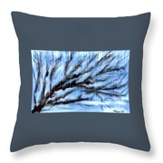 Rain Throw Pillow by Karunita Kapoor
