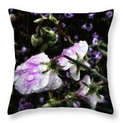 Rain Kissed Petals. This Flower Art Throw Pillow