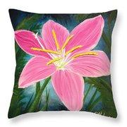 Rain Lily Throw Pillow