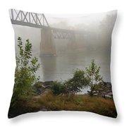 Rain N Fog Throw Pillow