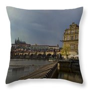 Rain Over Prague Throw Pillow