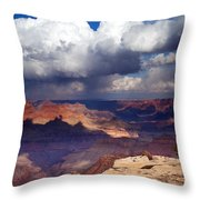 Rain Over The Grand Canyon Throw Pillow