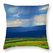 Rain Over The Uncompaghre Throw Pillow
