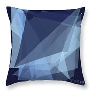 Rain Polygon Pattern Throw Pillow