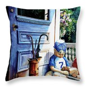 Rain Rain Go Away Throw Pillow