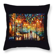 Rain Rustle Throw Pillow