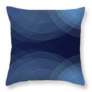 Rain Semi Circle Background Horizontal Throw Pillow