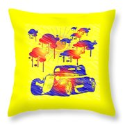 Rain Showers Throw Pillow