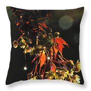 Rain Soaked Leaves-3 Throw Pillow