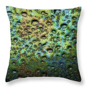 Rain Stains Throw Pillow