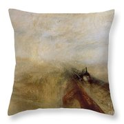 Rain Steam And Speed Throw Pillow