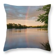 Rainbow After The Storm Throw Pillow