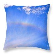 Rainbow Against A Beautiful Sky Throw Pillow