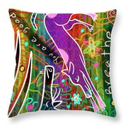 Rainbow Animals Yoga Mat Throw Pillow