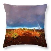 Rainbow Arch Throw Pillow