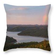 Rainbow At Broken Bow Lake Throw Pillow