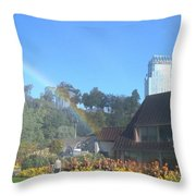 Rainbow At The Falls Throw Pillow