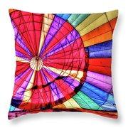 Rainbow Balloon Throw Pillow