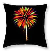 Rainbow Balloons Throw Pillow