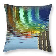 Rainbow Bandshell Reflection Throw Pillow